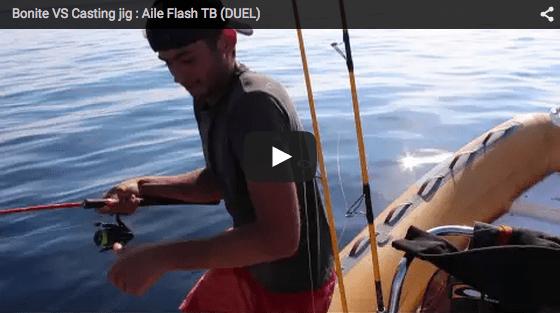 {Vidéo} Pêche Bonite VS Duel Aile Flash TB